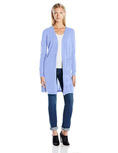 Sherosa Women Loose Draped Open Front Mid-long Lightweight Spring ...