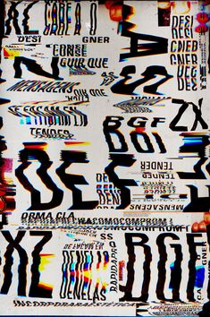 LEGIBILIDADE / LEGIBILITY by Marcos Faunner, via Behance keywords: typography glitch graphic design trends