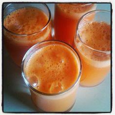 Mandarin, apple, carrot and ginger