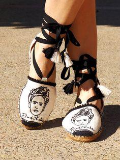 Alpargatas planas bordadas Frida Kahlo