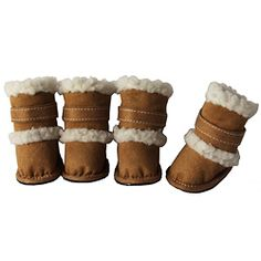 DUGGZ   @Overstock - Your dog can now travel with real fashion in these comfortable shoes from Pet Life. These 'DUGGZ' boots also feature an insulated inner lining to keep your dog warmer.  http://www.overstock.com/Pet-Supplies/Pet-Life-Tan-Shearling-Sherpa-DUGGZ-Paw-Boots-Set-of-4/5925194/product.html?CID=214117 $20.99
