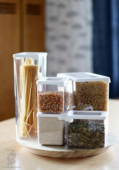 GastroMax Orthex - Dry food keepers Pantry Organization, Organizing, Food Storage Boxes, Lunch To Go, Food Waste, Nordic Design, Kitchen Pantry, Product Photography, Pasta
