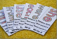 sight word fluency flip books....perfect for small group, RTI, or word work.