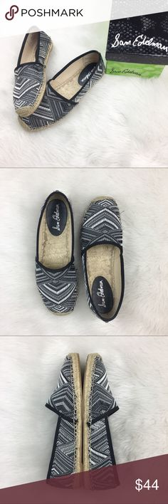 Sam Edelman Woven Lynn Black & White Slip-ons Sam Edelman woven Lynn black & white slip-on shoes. Size 8.5. GUC with small amount of wear and box is included. No smell! ❌No trades ❌ Modeling ❌No PayPal or off Posh transactions ❤️ I 💕Bundles ❤️Reasonable Offers PLEASE ❤️ Bundle & SAVE❗️❗️ Sam Edelman Shoes Flats & Loafers
