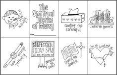The Spiritual Works of Mercy Mini Coloring Book- Free printable for Catholic Kids