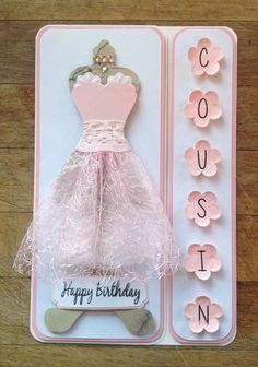 Mannequin Dress Card - pretty x