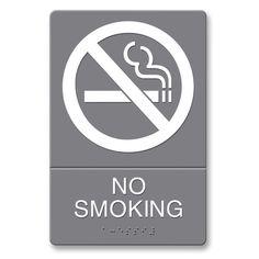 U.S. Stamp & Sign ADA No Smoking Sign