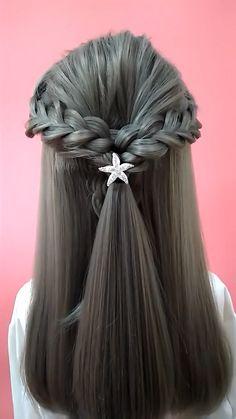 Easy Hairstyles For Long Hair, Braids For Long Hair, Up Hairstyles, Hair Up Styles, Medium Hair Styles, Hair Tutorials For Medium Hair, Hair Videos, Makeup Videos, Hair Hacks