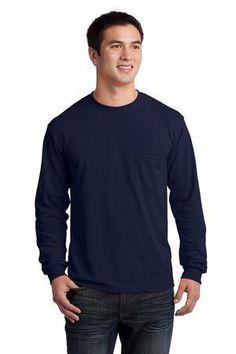 Gildan - Ultra Cotton 100% Cotton Long Sleeve T-Shirt with Pocket.  2410 #tshirt #longsleeveshirt