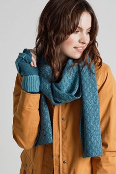 Winter Tide Scarf #SeasaltComfortandJoy