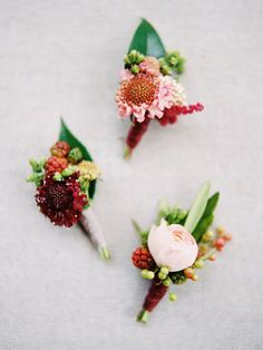 Whimsical + colorful boutonnieres: http://www.stylemepretty.com/2016/03/16/whimsical-summer-wedding-at-lake-tahoe-2/ | Photography: Ryan Ray Photo - http://ryanrayphoto.com/
