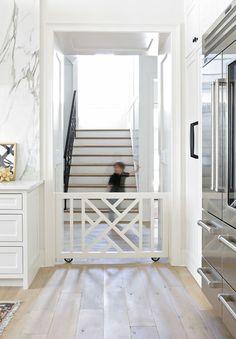 Built In Rolling Baby/Pet/Dog Gate Doorway   Designer: Lori Paranjape