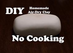 This quick, no-cook recipe is a great go-to choice when you don& want to spend much time putting your clay together. Learn how to make Air-Dry Clay at home . Homemade Clay, Diy Clay, Clay Crafts, Homemade Slime, Kid Crafts, Crayola Air Dry Clay, Diy Air Dry Clay, Porcelain Clay, Cold Porcelain