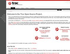 Trac is an open source, web-based project management and bug-tracking tool which allows hyperlinking information between a bug database, revision control and wiki content.