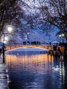 Pont des amours, Annecy, France by Capucine Lambrey