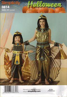 Simplicité Costume Sewing Pattern 0814 (aka 2329) - Costumes égyptien enfant & filles (3-6, 7-14)