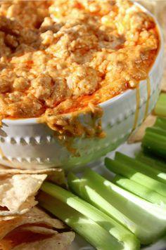 Crock Pot Buffalo Chicken Dip  http://www.tammileetips.com/2014/01/crock-pot-buffalo-chicken-dip/