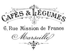 French Transfer Printable – Typography – Marseille