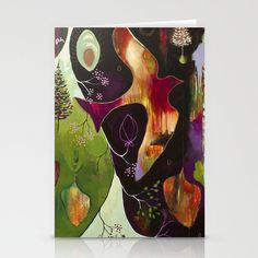 """""""Deep Peace"""" Original Painting by Flora Bowley Stationery Cards by Flora Bowley - $12.00"""