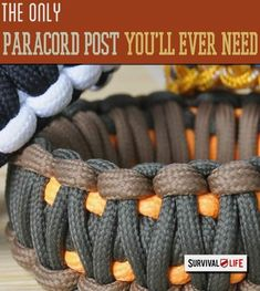 Paracord is a prepper's best friend. Also called parachute cord