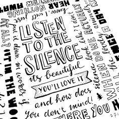 Enjoy the silence #lettering #typography #paperfuel