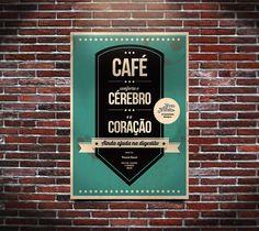 Café conforta o cérebro e o coração Cover, Books, Point Of Purchase, Wise Words, Green, Livros, Livres, Book, Blankets