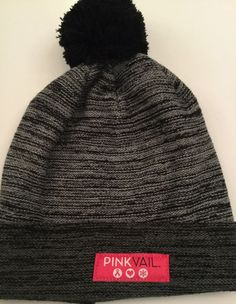 caac5f7bef983 Unisex Pink Vail Bula Hat - Black   Gray W Pom Pom  fashion  clothing   shoes  accessories  unisexclothingshoesaccs  unisexaccessories (ebay link)
