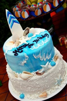 Luau + Surf themed birthday party FULL of ideas! Via Kara's Party Ideas | KarasPartyIdeas.com #summer #pool #luau #surfing #party #themed #idea #cake #supplies #decor #food #desserts (1)