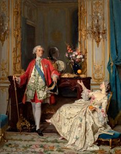 treasure for your pleasure: marie antoinette — Louis XV and Madame du Barry by Joseph Caraud,. Madame Du Barry, 18th Century Dress, 18th Century Fashion, 17th Century, Marie Antoinette, Louis Xiv Versailles, Renaissance Dresses, Joseph, Photography Illustration