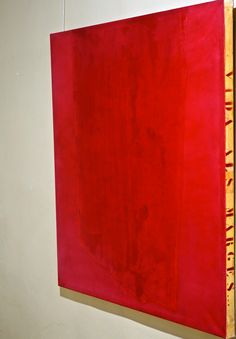 Vermell sobre vermell. Acrílic, pigments i grafit sobre tela. 120 x 120 cm.