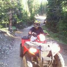 Camping wouldn't be complete without a quad ride :) Can't wait to camp and ride again. Soon !! :)