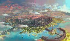 The Elder Scrolls, fandom, Oblivion, TES art, Imperial city The Elder Scrolls, Elder Scrolls Oblivion, Elder Scrolls Games, Elder Scrolls Skyrim, Fantasy City, Fantasy Castle, Fantasy Places, Fantasy World, Final Fantasy