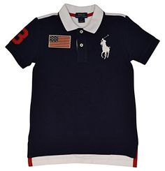 Polo Ralph Lauren Little Boys USA Big Pony Polo Shirt  5  French Navy >>> Read more reviews of the product by visiting the link on the image.Note:It is affiliate link to Amazon.