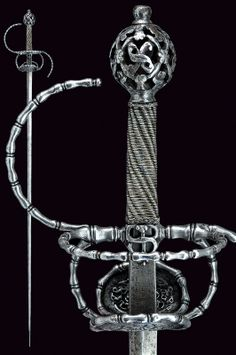 A pierced rapier.    provenance:	 	Italy dating:	 	 circa 1600