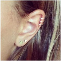 Pix For Triple Auricle Piercing ❤ liked on Polyvore featuring accessories
