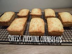 Cheesy zucchini cornbread - from Lunchblocks Zucchini Cornbread, Cheesy Cornbread, Cornbread Mix, Summer Squash, Banana Bread, Lunch Box, Snacks, Healthy, Easy
