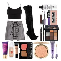 """bby ❣"" by kaitlynnnnrose ❤ liked on Polyvore featuring Alexander Wang, Kendall + Kylie, Maybelline, tarte, MAKE UP FOR EVER, MAC Cosmetics, NARS Cosmetics, Urban Decay, Huda Beauty and Too Faced Cosmetics"