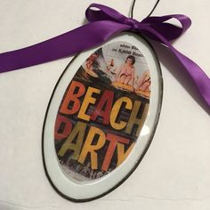 Vintage Style, Beach Party, Fifties Movie Holiday Ornament - Christmas ornament