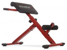 Stamina Hyper Bench, Red Use with or without dumbbells for ripped abs and a strong back Thickly padded bench with durable stitched vinyl upholstery Non-slip footrest Adjustable footrest and backrest, … Strength Training Equipment, No Equipment Workout, Workout Gear, Fitness Equipment, Ab Workouts, Core Strength Exercises, Strength Workout, Best Ab Machine, Abs Weights