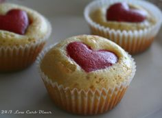 24/7 Low Carb Diner: Very Vanilla Valentine Cupcakes