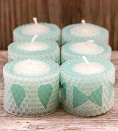 Aqua Teas Beeswax Tealight Candles – Set of 6 by La Toad on Scoutmob Shoppe Candles And Candleholders, Candels, Beeswax Candles, Diy Candles, Tea Light Candles, Pillar Candles, Tea Lights, Candle Making Business, Candle Art