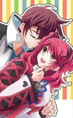 Cheria and asbel Tales Of Graces, Romantic Anime Couples, Tales Series, Mobile Wallpaper, Character Design, Fan Art, Cute, Gaming, Ship