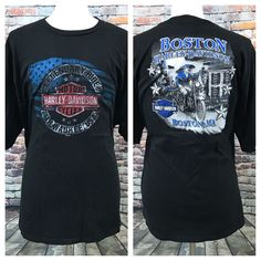 d742b8b4 Mens Harley Davidson Legendary Ride Milwaukee Boston MA Black T Shirt 3XL |  eBay Harley Davidson