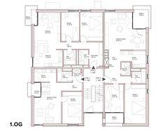 Treppenhaus grundriss  Grundriss EG | Mehrfamilienhaus | Pinterest | Grundrisse