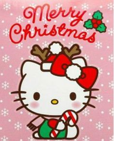 Hello Kitty Christmas Tree, Christmas Cats, Christmas Wishes, Christmas Time, Xmas, Hello Kitty Backgrounds, Hello Kitty Wallpaper, Wallpaper Iphone Cute, Merry Christmas Pictures