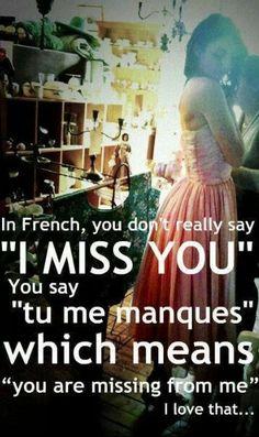 Tu me manques!