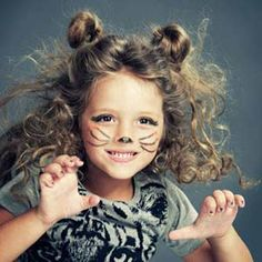 Kid #Halloween Kitty Makeover | http://www.rachaelraymag.com/fun-how-to/makeovers/kids-halloween-costume-makeup/3/#