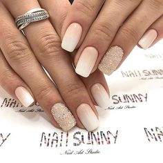 23 Pretty Wedding Nail Ideas for Brides-to-Be Ongles De Mariage Ombre Francais Lace Wedding Nails, Natural Wedding Nails, Simple Wedding Nails, Wedding Nails Design, Ivory Wedding, Elegant Wedding, Fall Wedding, Wedding Ideas, Boho Wedding