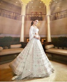 Sara Ali Khan in a beautiful white lehenga.