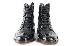 Brogue high-tops. Nifty.  #menswear #fashion #shoes  {Givenchy via @slamxhype}